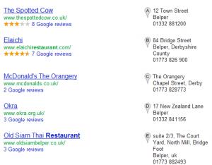 Google Places Listings